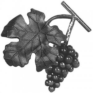 Кованый элемент виноград